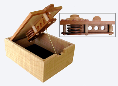 The Wooden Lock Mechanism Is Exposed On Inside Where Its Intricate Workings Will Fascinate Curious Minds Of All Ages